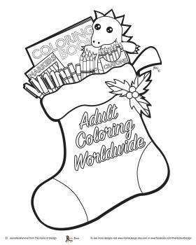 Christmas Stocking Free Coloring Page