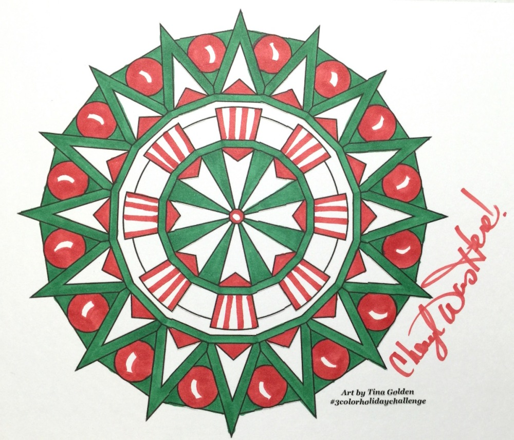 #cherylcolors tina golden christmas mandala