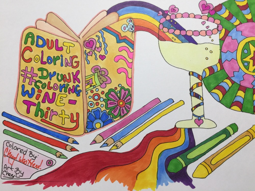 #drunkcoloring #winethirty Adult Free Coloring Pages