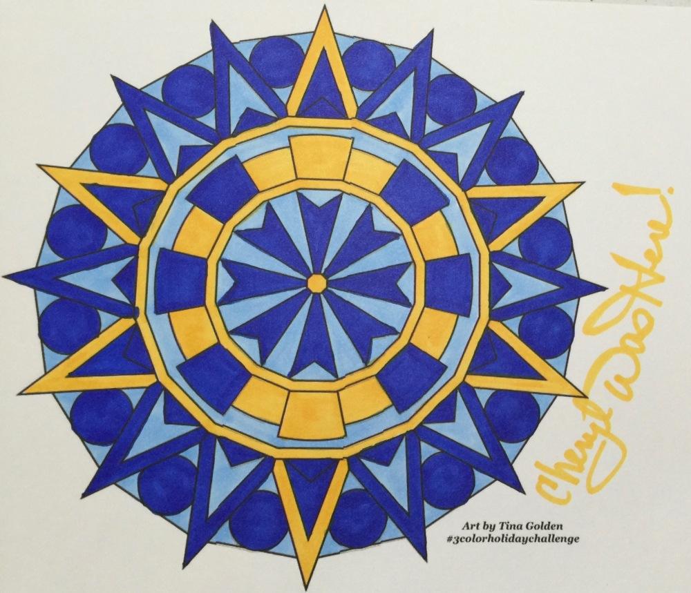 #cherylcolors Tina Golden Hanukkah