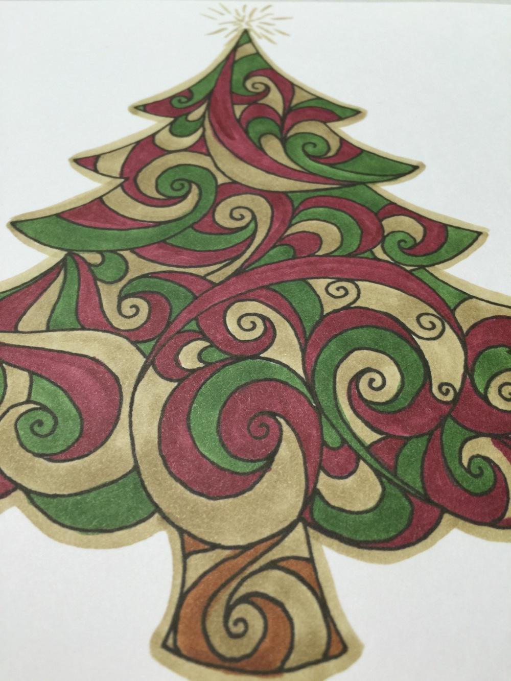 Tabitha Barnett Christmas coloring page