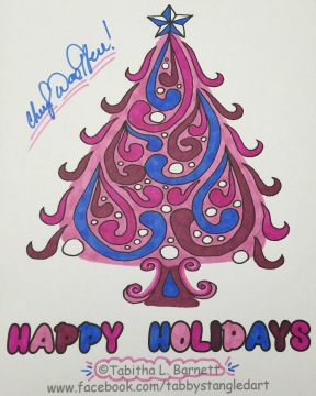 Tabby Barnett christmas tree coloring page