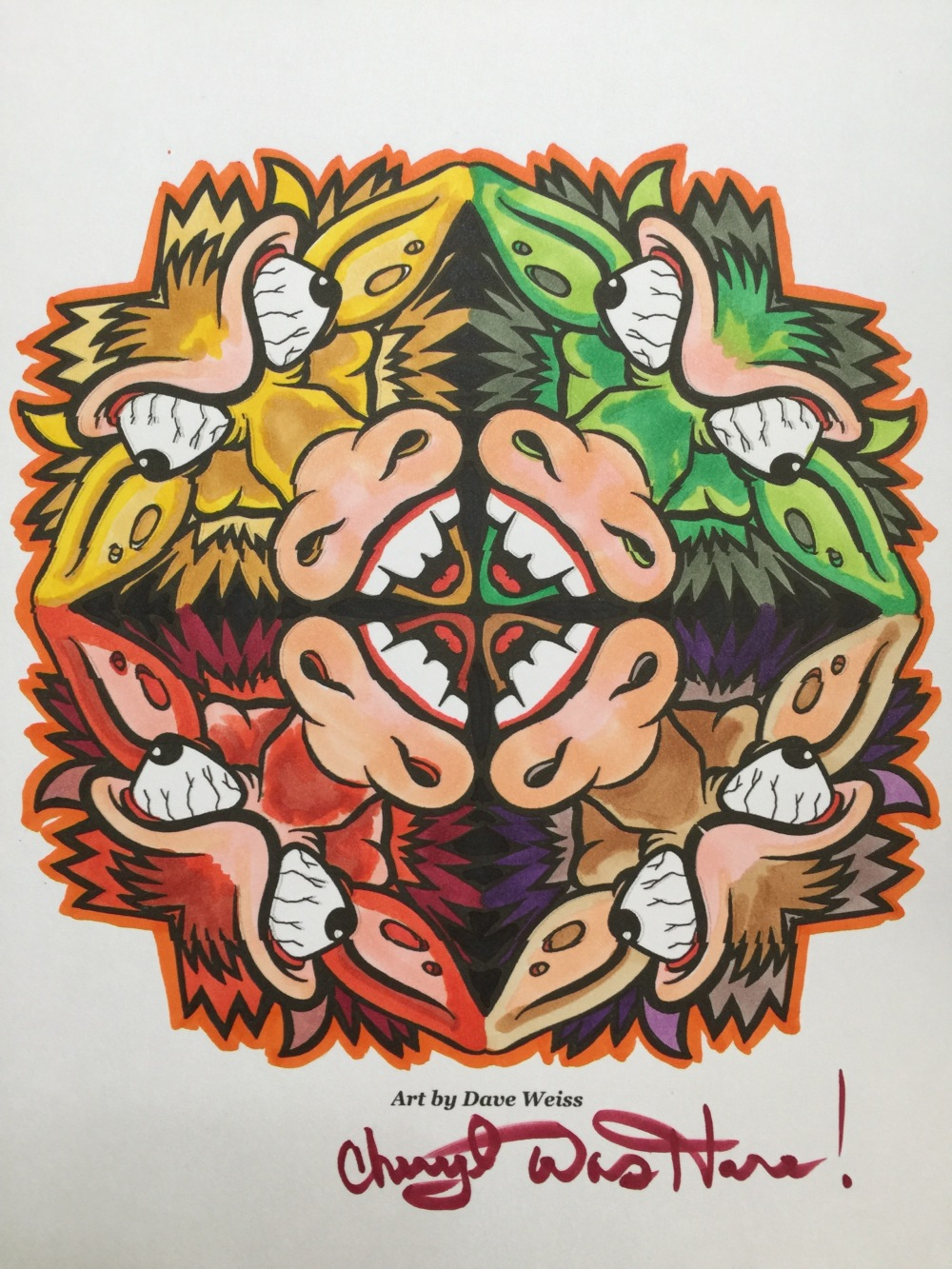 #cherylcolors art by David Weiss