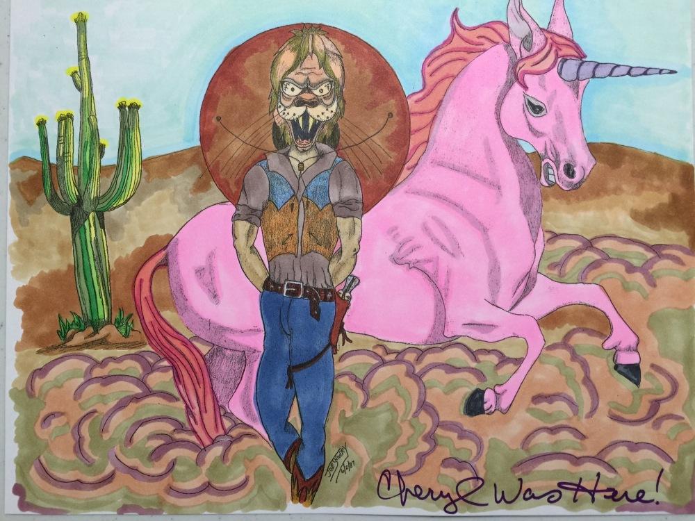 Joseph Shivery Pink Unicorn Coloring