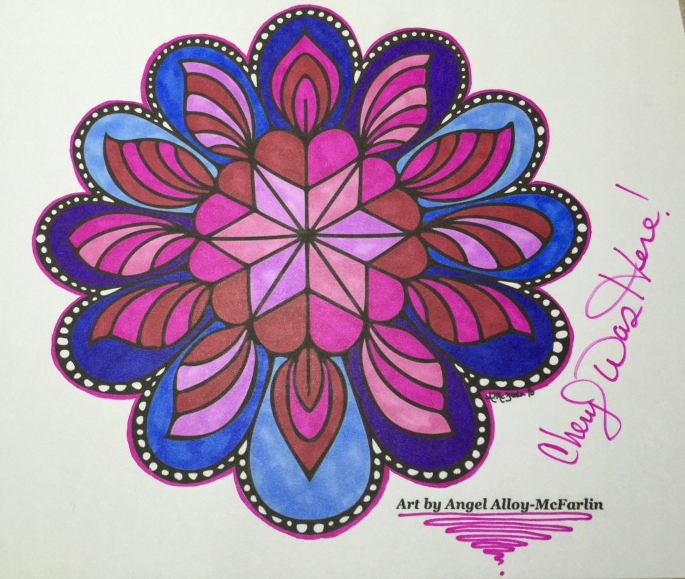 Cheryl Colors Mandala art by Angel Alloy-McFarlin