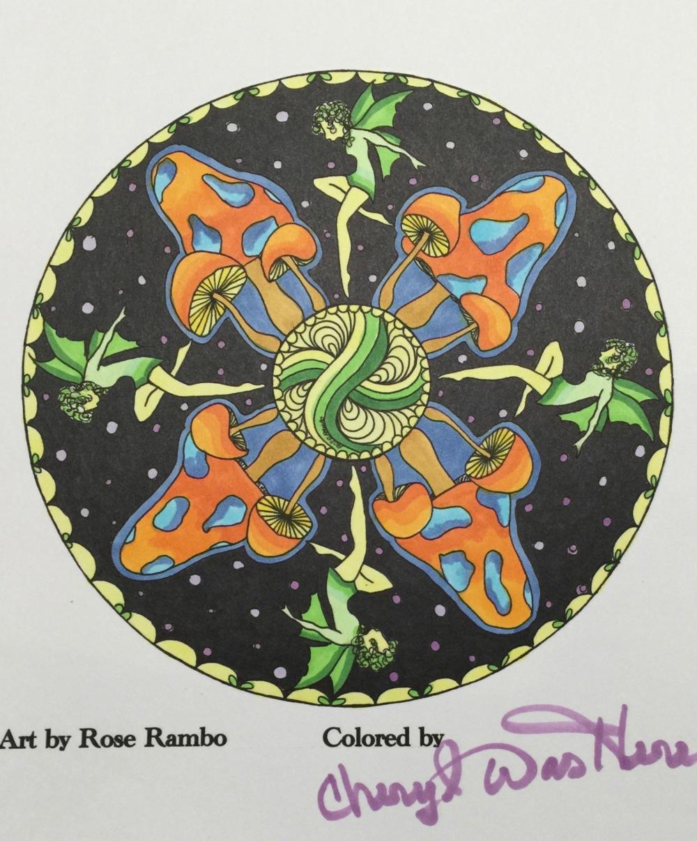 #cherylcolors Mushroom Fairies by Rose Rambo