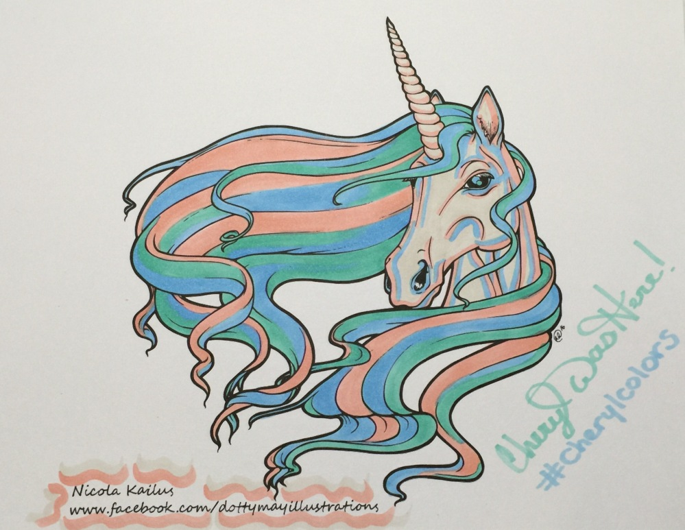 #cherylcolors Nicola Kailus Dotty May Unicorn