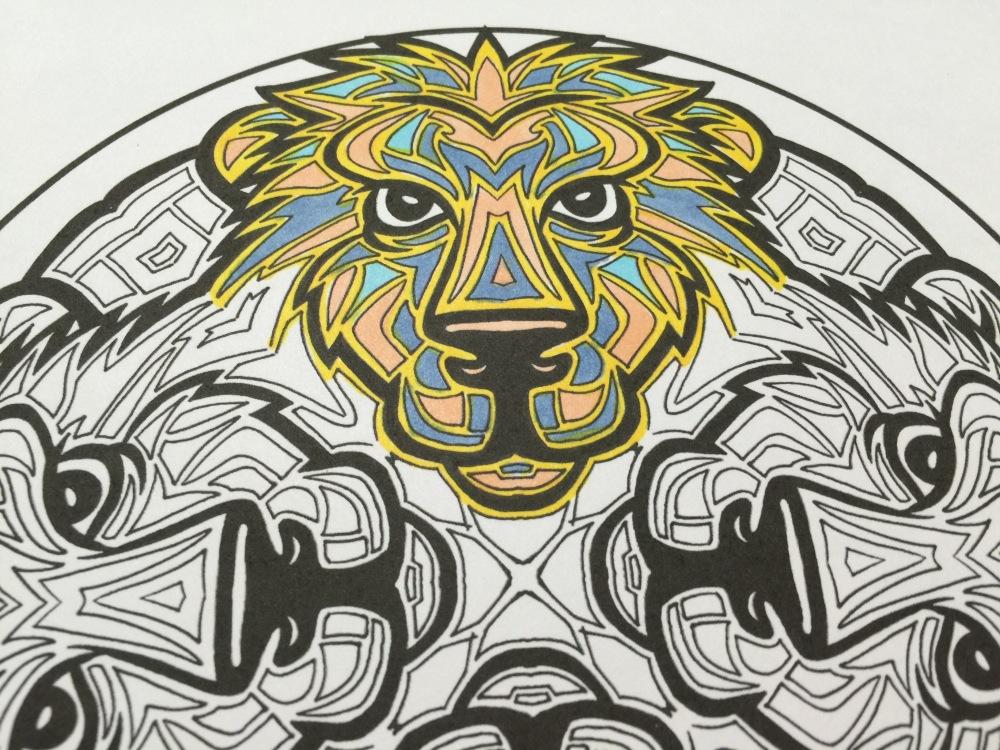 Dave weiss lion mandala