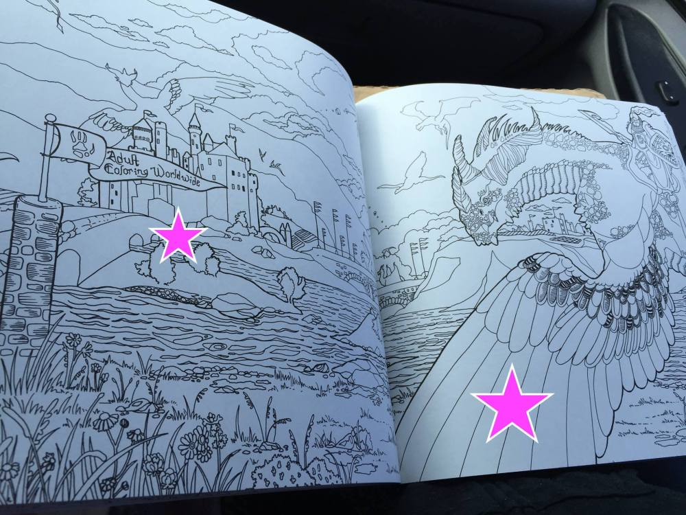 Legendary Worlds Adult Coloring Books