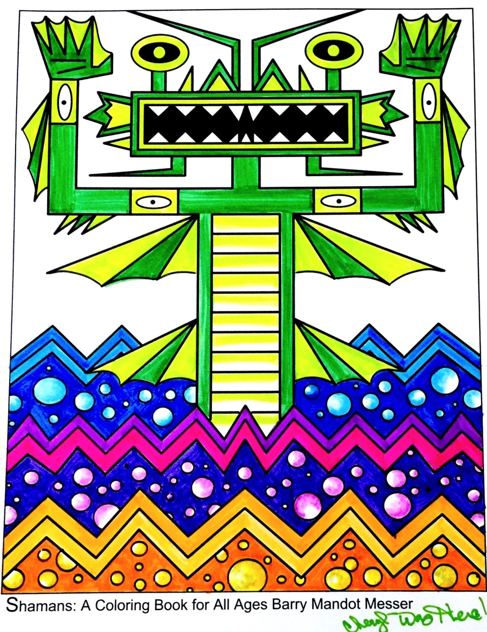 Coloring Book: Shamans by Barry Mandot Messer