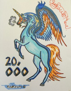 #cherylcolors #20000 redrewts unicorn pegasus