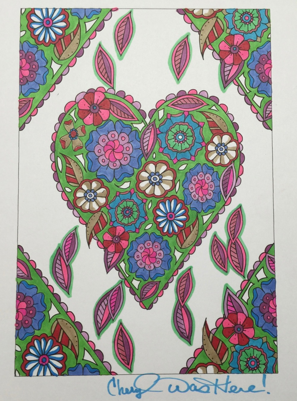 #cherylcolors art by Edwina McNamee Valentines Day Coloring Books and Pages for Adults