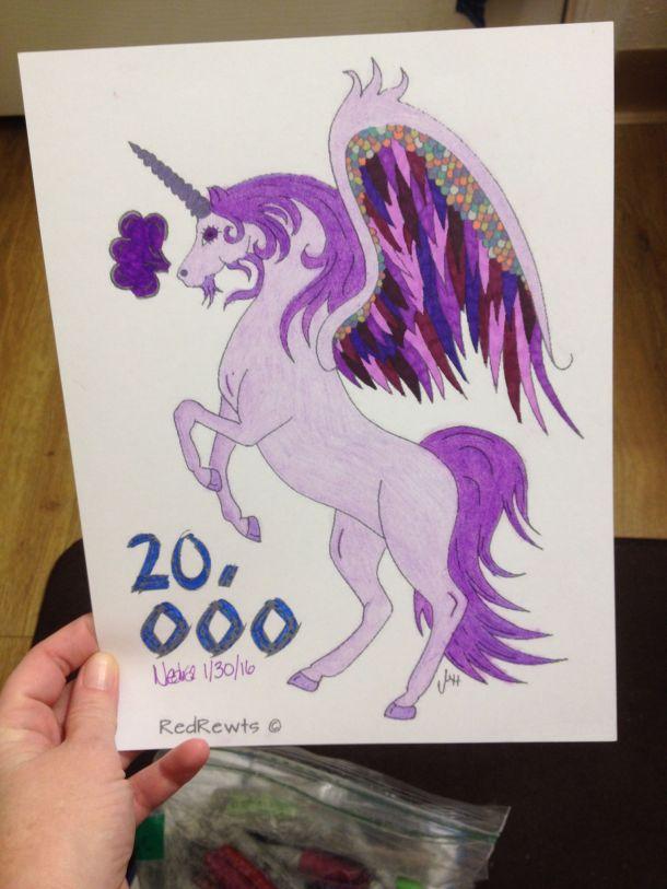 Nedra Herrick Colors #20000 redrewts unicorn pegasus