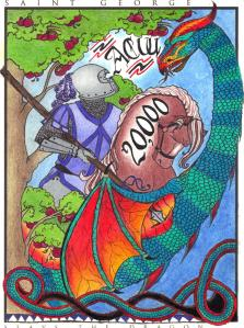 #zonacolors Dragon and Knight Adult Coloring Saint George Page