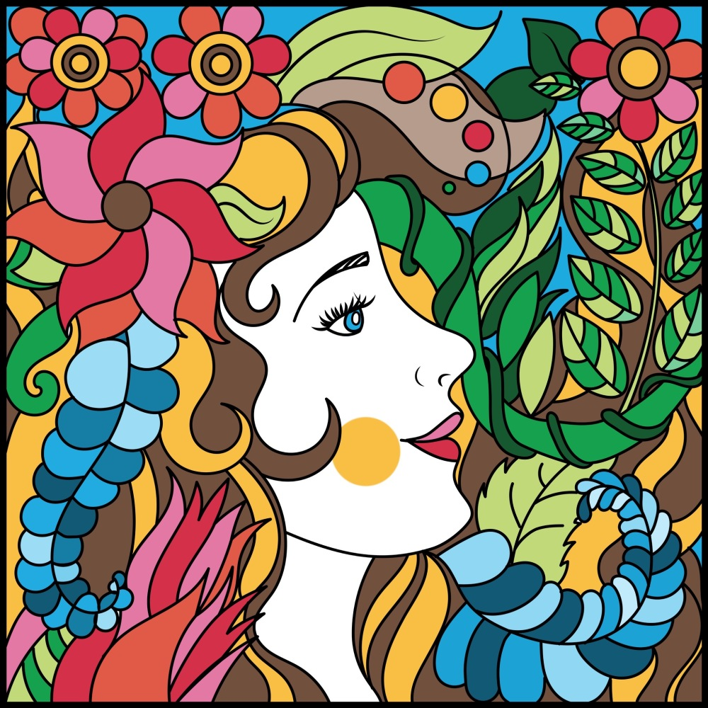 Pigment App Adult Coloring Color Digitally