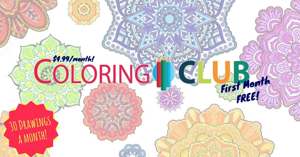 Join Colorit Coloring Club www.coloring.club coloring pages