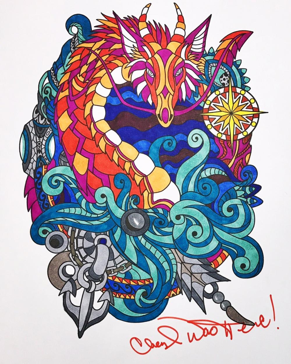 Colorit Coloring Club Dragon Page