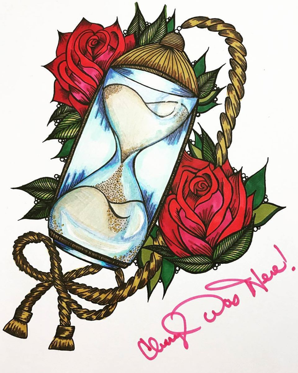 hourglass-coloring-page