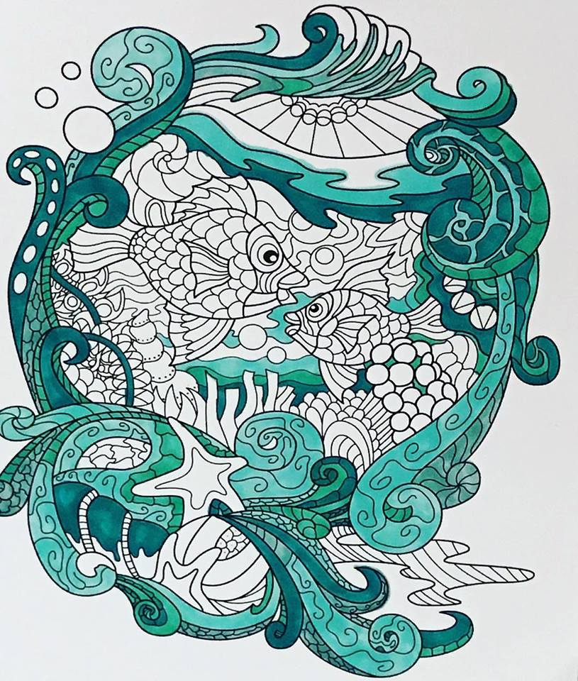 Fish from Colorit Colors of the Ocean coloring book