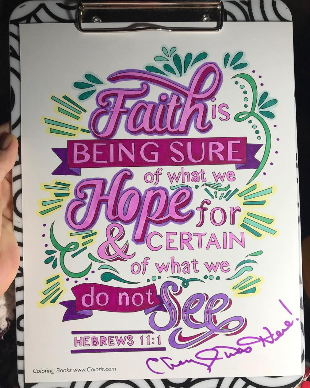 Faith Hope Colorit spiritual bible faith coloring book pages